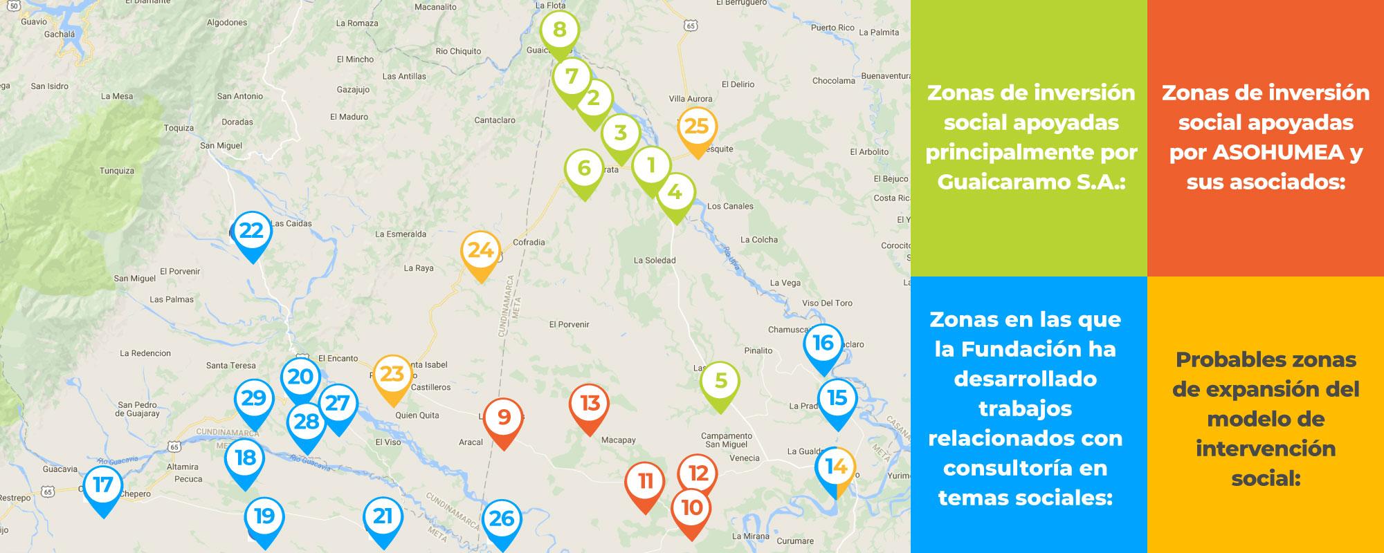 Imagen mapa Guaicaramo